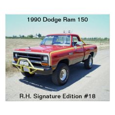 Red lifted dodge ram truck