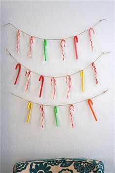TUTORIAL: candy canes for everyone garland   MADE