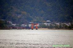 The Itsukushima Shrine: A view from the Miyajimaguchi Ferry Station