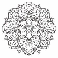 Drawing Doodle Flower Mandala Doodle - Doodle is Art Mandala Doodle, Mandala Art, Mandala Design, Croquis Mandala, Mandalas Drawing, Mandala Coloring Pages, Colouring Pages, Doodle Art, Zentangles