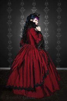 goth marie antoinette | Gothic Marie Antoinette Gown Custom Color Size
