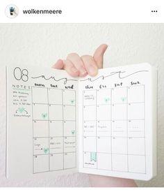 Bujo monthly planner. Bullet journal inspo