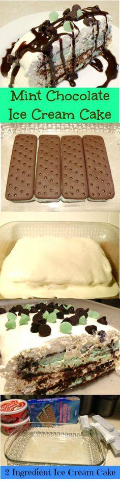 Super easy ice cream cake recipe