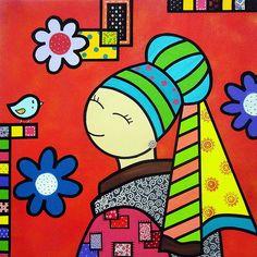 PAINEL EM ACRILICO SOB TELA.  TAMANHO 0,90 X 0,90.    PRODUTO DISPONIVEL PARA ENVIO IMEDIATO    Fazemos em outros tamanhos. Personalizamos.  Consulte o preço.     Essa obra é uma releitura da Obra original do pintor holandês Johannes Vermeer. Obra catalogada no Guide Biennal d?Art Contemporain, Ed. 2014/2015, Vol. 1, págs. 48,49, publicado em Paris, França (o guide acompanha a obra)    ENVIO DA TELA É FEITO SOMENTE DO TECIDO, SEM O CHASSI DE MADEIRA EMBALADO EM TUBO PVC VIA CORREIOS NA ...