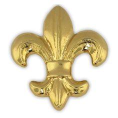 """Fleur-de-lis Lapel Pin. 1"""" Gold plating 3-D cast. $3.99"""