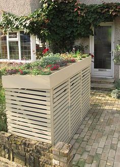 Shed Plans - How to make a Bin Store with a Green Roof - Now You Can Build ANY Shed In A Weekend Even If Youve Zero Woodworking Experience! Bin Shed, London Garden, Bike Storage, Storage Place, Outdoor Storage, Wood Storage, Bin Storage Ideas Wheelie, Garbage Storage, Hidden Storage