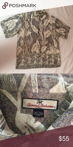 c6668110 This garment is in excellent condition. The shirt has plant leaves print.  Tommy Bahama Shirts Casual Button Down Shirts. Ken Burch · Hawaiian Aloha  Shirts