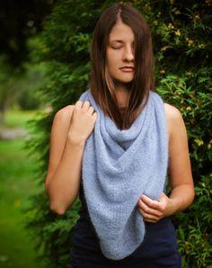 Women's scarf Bell Silk Mohair scarf warm big soft by VAmandala, $86.00