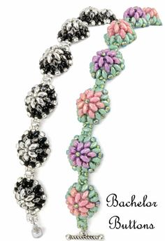 Starman TrendSetter Sue Charette-Hood created the Bachelor Buttons bracelet using new Czech MiniDuo beads.