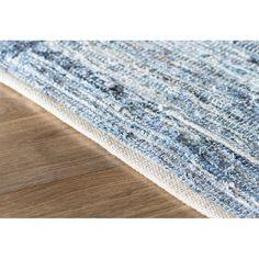 Mack & Milo™ Striped Handmande Braided Cotton Bright Blue/Navy Rug & Reviews   Wayfair Coastal Area Rugs, Coastal Living, Blue Area Rugs, Coastal Decor, Hippie Style Rooms, Peaceful Bedroom, Hippy Room, Rug Loom, Navy Rug