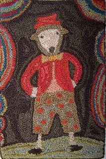 Star Rug Company..primitive hooked rug