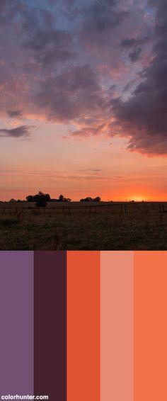 Sunrise Color Scheme from colorhunter.com