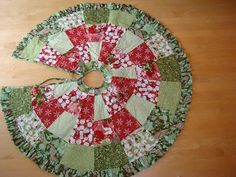 Christmas tree skirt patchwork by carmenjass on Etsy, $94.00: