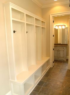Mudroom. Had this custome built and put in the new finished basement!