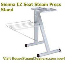 Sienna EZ Seat Steam Press Stand - $49.99  This #press #stand can be used with the Expresso, Elite, or Empressa Steam Presses. It allows you to stand or sit while using either one of the Sienna steam press. Visit today to get more information!