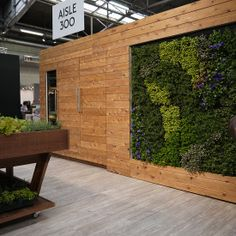 Vosgesparis Hanging garden at the AD Home Design show in the Miele Booth