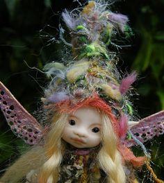 sweet 5 inches tiny fairy fairie posable ooak