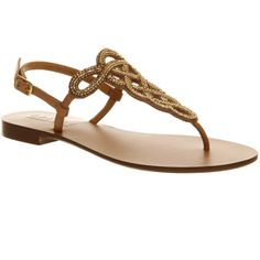 Office Hareem ($39) ❤ liked on Polyvore featuring shoes, sandals, flats, camel leather, women, beaded shoes, flat pumps, leather flats, flats sandals and camel sandals
