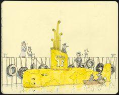 Mattias Inks: Yellow pastiche