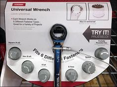 Universal Wrench Try MePoint-of-Purchase Display Universal Wrench, It Works, Retail, Display, Store, Tent, Billboard, Shop Local, Larger