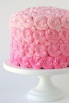 Glorious Treats » Pink Ombre Swirl Cake
