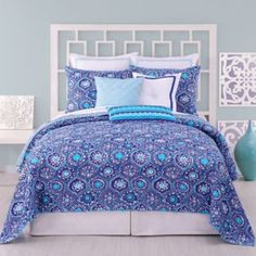 Trina Turk® Caprice Medallion Coverlet, 100% Cotton - BedBathandBeyond.com MAybe if you used a 20% off coupon
