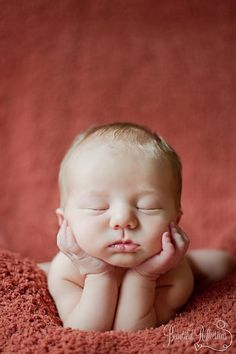 Pose idea. Nakie set, indoors. (See newborn photo safety pictorial for posing how-to)