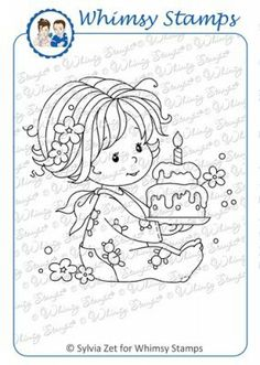The Rubber Buggy  - Wee Stamps BIRTHDAY BABY GIRL by Whimsey Stamps, $8.00 (http://www.therubberbuggy.com/wee-stamps-birthday-baby-girl-by-whimsey-stamps/)