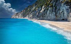Morze, Plaża, Skały, Klif