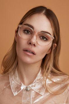 12293df53111 Maripier Morin X BonLook collaboration. NADINE glasses in Prosecco.  Prosecco, Round Glass,