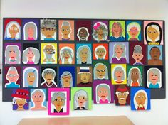 Twitter / stephdank: My students self-portraits at 100 years old...