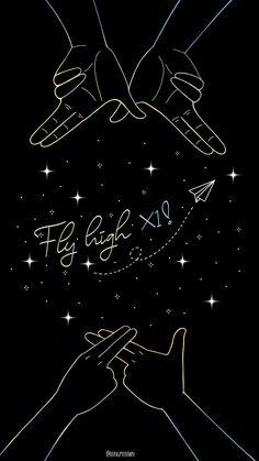Fly high, X1 Tumblr Wallpaper, Galaxy Wallpaper, Wallpaper Quotes, Wallpaper Backgrounds, Phone Screen Wallpaper, Aesthetic Iphone Wallpaper, Aesthetic Wallpapers, Haikyuu Wallpaper, Cute Wallpapers