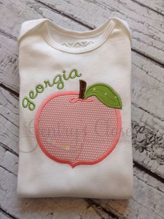 Georgia peach shirt or infant bodysuit. by GentrysCloset on Etsy, $23.00 WWW.INFANTEENIEBEENIE.COM~  the only hat guaranteed to fit and stay snug to all newborns.