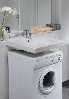 Bathroom with washing machine | drawhome.com