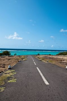 An old road of Rodrigues island (Indian Ocean), paved with a 40 years old Marini asphalt plant
