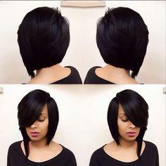 Beautiful bob cut