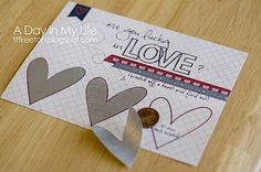 """A super fun Valentine card idea! Make your own """"scratch and win"""" ticket. Scratch Off Tickets, Scratch Off Cards, Valentine Day Crafts, Valentines, Valentine Cards, Win Tickets, Baby Shower Activities, Diy Cards, Homemade Gifts"""