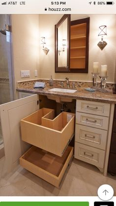 8 Excellent Cool Tips: Bathroom Remodel Tips Walk In Shower bathroom remodel layout framed mirrors.Bathroom Remodel Cabinets Projects mobile home master bathroom remodel.Bathroom Remodel Gray And White. Bad Inspiration, Bathroom Inspiration, Bathroom Renos, Bathroom Ideas, Bathroom Organization, Bathroom Renovations, Vanity Bathroom, Organization Ideas, Bathroom Cabinet Storage