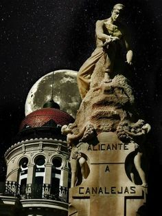 Alicante and a beautiful moon. Spain
