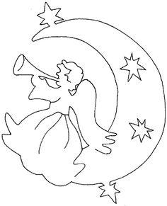 fensterbild engel kostenlos nr. 4 | laubsäge vorlagen