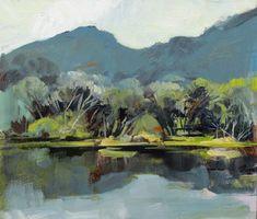 Jenny Parsons, Mist rolling in Landscape Artwork, Urban Landscape, Collage, Painting & Drawing, Mists, Artworks, Deserts, June, Trees