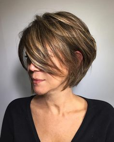 Layered Bob With Swoopy Side Bangs