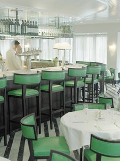 Cecconis, a chic Italian restaurant in London, Klismos Chairs