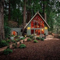 A frame cabin, a frame house, triangle design, minimal home, cabins and Cabins In The Woods, House In The Woods, House In The Forest, Forest Cottage, Mountain Cottage, Cozy Cabin, Cozy House, A Frame Cabin, A Frame House Plans