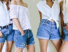 how to make denim shorts from old jeans Diy Jeans, Diy Shorts, Diy Clothes Jeans, Sewing Shorts, Diy Summer Clothes, Diy Clothes Refashion, Diy Clothes Videos, Diy Clothing, Denim Cutoffs