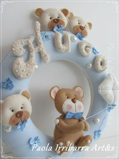 Guirlanda Urso Hugo Baby Decor, Baby Shower Decorations, Mobiles, Baby Mobile, Name Banners, Baby Room, Cute Pictures, Projects To Try, Birthdays