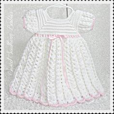 Baby Girls White Dress  Baptism Wedding by SweetSouthernBabies, $52.00