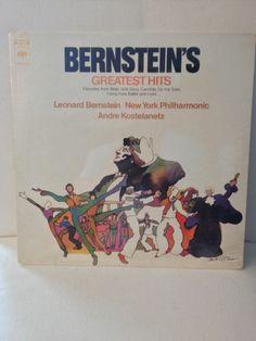 "Bernstein's Greatest Hits / New York Philharmonic / 12"" Vinyl LP Record / Classical Album"