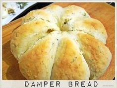 Daily Meal: Australian Damper Bread- No yeast required Savory Bread Recipe, Yeast Bread Recipes, Baking Recipes, Yummy Recipes, Vegetarian Recipes, Dinner Recipes, Traditional Australian Food, Aboriginal Food, Damper Recipe