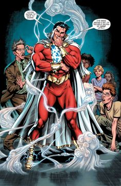 Shazam is always ready for action! What'd you think of his big return in SHAZAM! Marvel Dc Comics, Marvel Comic Universe, Dc Comics Art, Comics Universe, Cosmic Comics, Captain Marvel Shazam, Shazam Comic, Original Captain Marvel, Univers Dc